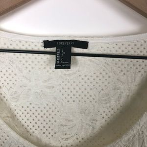 Forever 21 Tops - 🦋forever 21 White Crop top size large